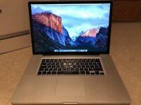 Macbook Mac Pro 17 inch laptop Full HD 1920x1200 screen Intel 2.8ghz processor