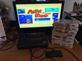 Sega master system console & games