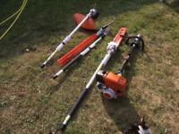 Stihl Kombi KM-130R and 3 attachments, all new 2017 machine
