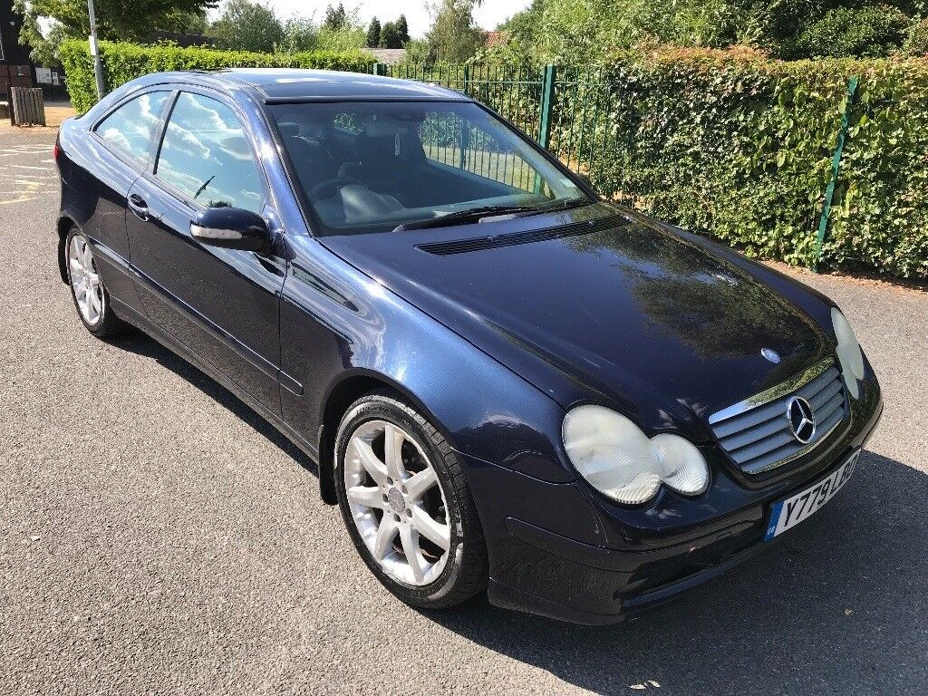 Mercedes C200 Kompressor Automatic 2001 Y Reg 3 Door Coupe Dark