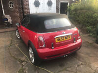 2007 (57) MINI COOPER S CONVERTIBLE 1.6 SUPERCHARGED 6 SPEED RED