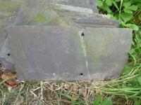 Great for garden decoration: Reclaimed Slate Roof Tiles