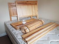 Ikea Wooden Extendable Bed £75 Firm