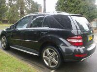 BLACK 2009 MERCEDES ML 320 CDI SPORT AUTO 4X4 VERY CLEAN M-CLASS 4WD