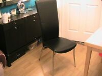 black styelish mordern dinning chair one only free
