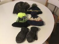 Boys winter hats and gloves bundle £5