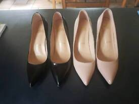 2 pairs of red bottom shoes/heels. Like CL. EU 42 UK 7 - 8