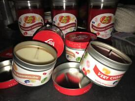 Jelly Belly in tin Candles