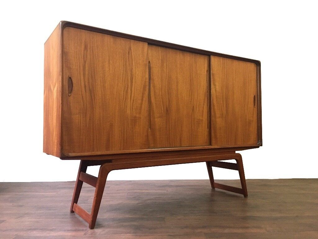 Danish Sideboard Credenza : Clausen and son danish mid century teak sideboard credenza retro