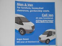 man and van Dundee,montrose,brechin,forfar,arbroath and all uk