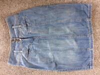 High waisted demin skirt size 10