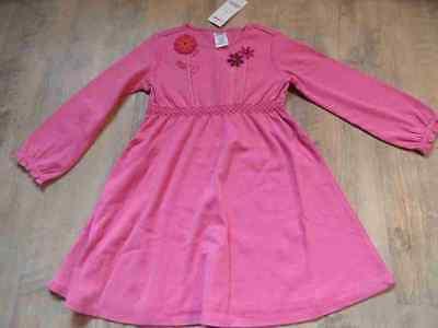 GYMBOREE schönes Jerseykleid pink m. Blumen Gr. 4 J NEU ST1016