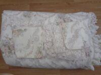 Vintage M&S floral shabby chic double reversible set & Feather/Down 4.5tog duvet