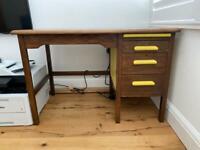ABBESS D312 Vintage Midcentury Oak Desk Table