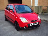 CHEVROLET MATIZ 1.0 SE 5DR 2009 LOW MILEAGE PETROL ECONOMICAL CHEAP TAX F.S.H LONG MOT 2KEYS £1195