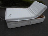 Electric adjustable single bed with two storage drawers and massage function - Can deliver