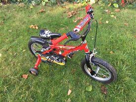 "14"" pirate bike with stabilisers"