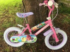 """Girls Disney 14"""" wheel bike"""