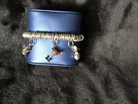 Links of London bracelet with 3 charms great condition