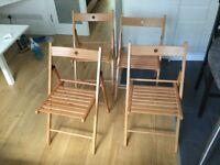 4 IKEA TERJE Chairs
