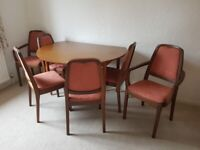 Schreiber Dining Table and 6 chairs.