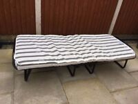 Fold up bed,hardly used,as new
