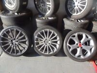 """18"""" FORD FOCUS ST & 19"""" RS FOCUS SPARE WHEELS FOR SALE NO CRACKS NEW TYRES £60-£90 EACH WITH TYRES"""