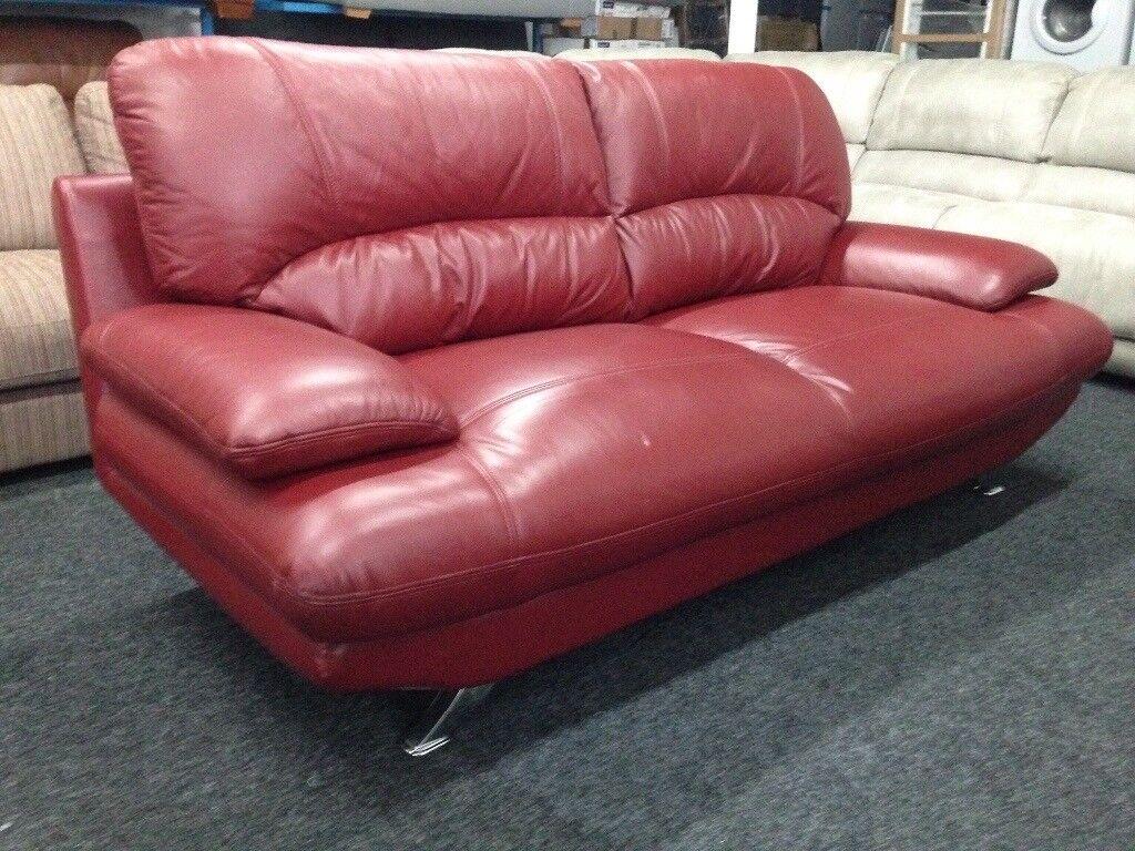 New/Ex Display Leather Samara 3 Seater Sofa
