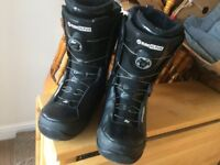 Ride Hi-Phy Snowboard Boots, UK size 11, Black, nearly new.