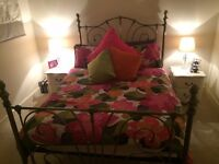 Beautiful Antique Brass Double Bed in Perfect Condition!