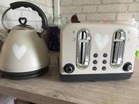 Toaster and kettle heart design