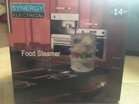Synergy three tier food steamer with timer. Like new in box with instruction booklet