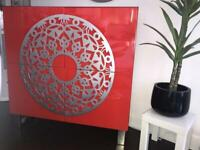 Sideboard cabinet, high gloss red