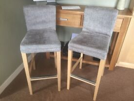 2 Ikea Henriksdal Bar Stools with 3 Covers