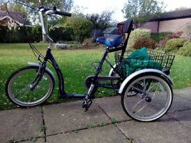 Adult Mission Solo Trike, large basket. Low step over for elderly or disabled. Excellent condition.
