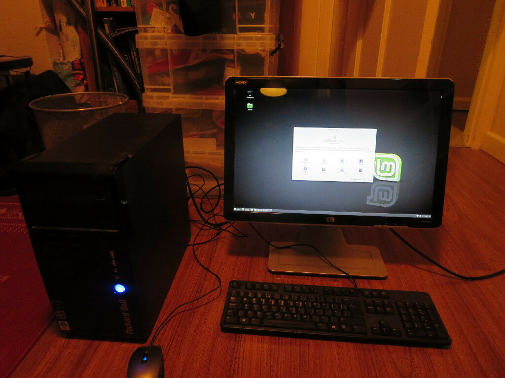 Hewlett Packard PC with HP Monitor