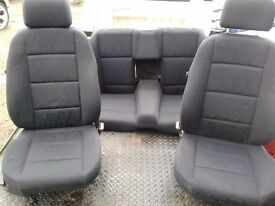 BMW E36 CABRIOLET FRONT AND BACK COMPLETE SEATS