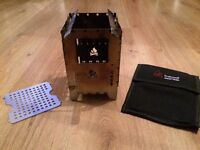 Bushbox xl collapsible stove with Cary sleeve case