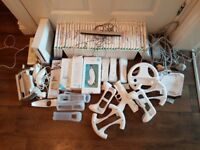 Wii console games and accessories bundle