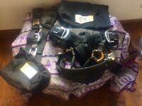 SRT Petzl Sequoia harness with shoulder straps.