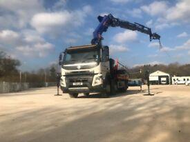 HIAB CRANE LORRY HIRE(24m) HGV-Transport Plant Heavy-Lifting(15t)-Shipping