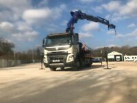 HIAB CRANE LORRY HIRE(24m) HGV-Transport Plant Heavy-Lifting(15t)-Shipping