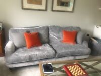 Stunning Lynden Grande -Laura Ashley sofa in grey velvet.