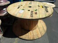 Wooden cable drums various sizes for up cycle into tables or displays etc