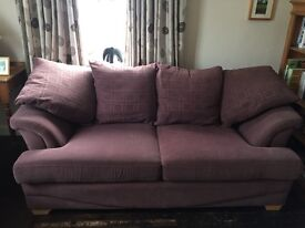 X2 3 seater sofas with matching footstool