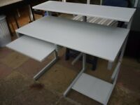 lovely light grey computer desk(rear height 94 cms)(front height 78 cms)(depth 57 cms)(wide 100 cms)