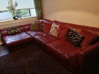 Huge red corner suite
