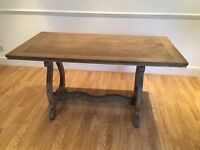 Solid Oak Wooden Dining Table (Seats 4 People) for Sale for £125. Must go by 28/08/17