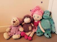 Collection of big soft toys