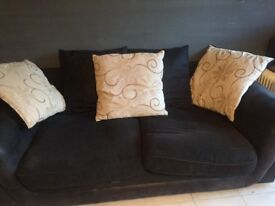 Black scs 3 seater sofa